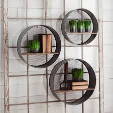 extremely inspiration metal wall shelves remodel ideas round set of 3 antique farmhouse for kitchen garage ikea decorative uk