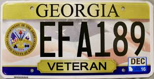Georgia License Plates Designs