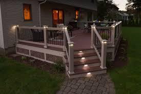 Flush Mount Deck Lights Solar Flush Mount Outdoor Deck Lighting Ideas Garden Deck