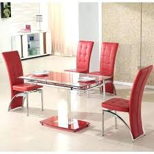 Red dining table set Coaster 101683 Red Dining Table Set Extending Glass In And Clear Browse Our Range Sets Uk Room Five Piece Dining Set Glass Table Red Vintagevalues Chic And Very Elegant Dining Set Home Red Room Vintagevalues