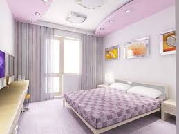 purple pop false ceiling designs for bedrooms with illuminating accessories