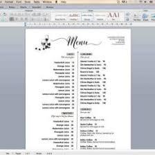free word menu template template samples page 2 guatemalago 37566728027 free word menu
