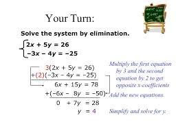 21 solve the system by elimination