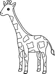 Joyous Giraffes Coloring Pages Baby Giraffe Realistic Of Cartoon