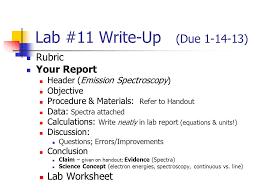 Lab Report Outline Format