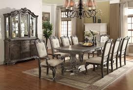 kiera formal dining room set 2151 crown mark grey