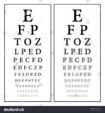 Alphabet Eye Chart Sharp Unsharp Snellen Eye Chart Vision Stock Vector Royalty