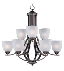 maxim 11226ftoi axis 9 light 28 inch oil rubbed bronze multi tier chandelier ceiling light