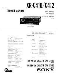 sony xr c410 c412 service manual schematics eeprom sony xr c410 c412 service manual 1st page