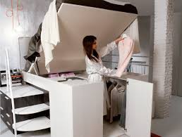 space saving furniture bed. Space Saving Bed Smart Hides A Walk In Closet Underneath Furniture G