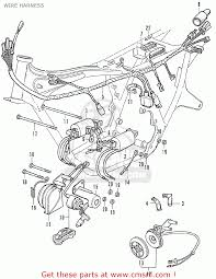 honda cb350f four european direct s wire harness schematic wire harness schematic