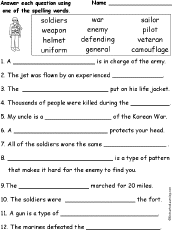 veterans day spelling word questions com spelling words
