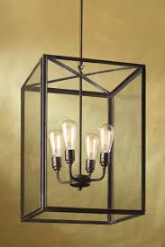 ilford large antique bronze and clear glass pendant nautic by tekna
