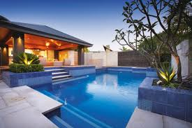swimming pool: Beautiful Backyard With Succulent Planter And Pleasant Pool  Ideas Also Likeable Charming Terrace