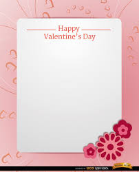 Valentines Day Letter Template Pink Valentines Day Letter Template Vector Free Download