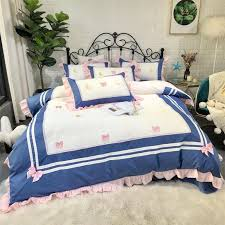 luxury egypt cotton sailor moon princess bedding set ruffles duvet cover set bed sheet pillowcases queen king size 4 6 bedding sets bedding set from