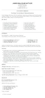 Restaurant Manager Resume Templates Resume Examples For Restaurant