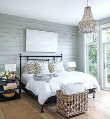 grey shiplap walls blue wall with black iron bed transitional bedroom kids room design for two grey shiplap walls