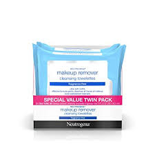neutrogena cleansing fragrance free makeup remover wipes 25 count 2 packs