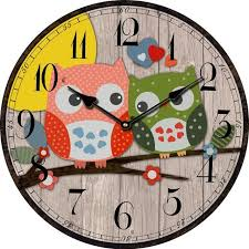 Wholesale Bird Style Kids Owl Wall Clock Vintage Antique Wooden Wall Clock  Modern Design Large Decorative Wall Clocks Home Decor Fun Wall Clocks Funky  ...