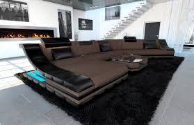 Details About Fabric Sectional Sofa New York Cl Big Design Couch Led Light
