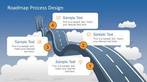 Roadmap Into Sky Metaphor Powerpoint Template