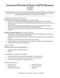 Resume Examples For Nurses Licensed Practical Nurse Resume Sample