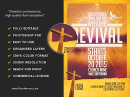 Sample Church Revival Flyers Church Revival Flyer Template Free