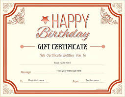 Free Printable Gift Certificate Template Voucher Examples