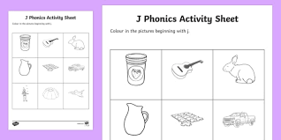Printable worksheets for teaching students to read and write basic words that begin with the letters br, cr, dr, fr, gr, pr, and tr. J Phonics Colouring Worksheet Worksheet Teacher Made
