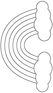 Printable Rainbow Template Classroom Ideas Regenboog Knutselen