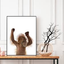 Monkey Wall Art Baby Animal Prints Digital Download