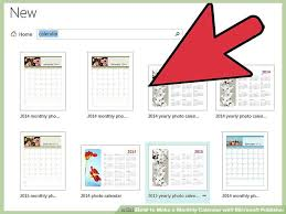 monthly calenar how to make a monthly calendar with microsoft publisher 14 steps