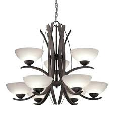 astounding 9 light bronze chandelier lighting candle allen roth outstanding and fresh best for kitchen table