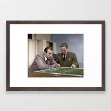 Stanley Matthews and Stan Mortensen Framed Art Print by andythephotodr    Society6