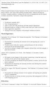 Inventory Control Job Description Resumes Inventory Control Resume Under Fontanacountryinn Com