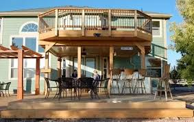 Decks can be ground level or higher and even second floor. I guess what  makes it a deck vs a balcony or porch is that it is made of wood or trex.