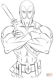 Small Picture Deadpool Printable Coloring Page Coloring Home