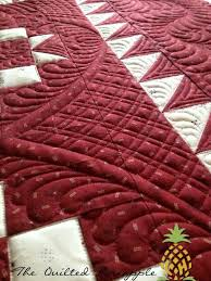 177 best Quilts - The Quilted Pineapple images on Pinterest ... & quenalbertini: Burgundy & white quilt, The Quilted Pineapple Adamdwight.com