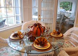 ... Lovable Images Of Beautiful Thanksgiving Table Settings : Extraordinary  Design Ideas Using White Rattan Chairs And ...