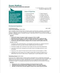 good marketing resumes functional resume format for marketing manager