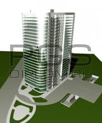 Купить дипломный Проект № Административно гостиничный  3d модель 1 jpg