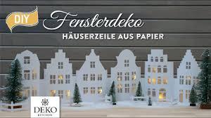 Diy Weihnachtsdeko Fensterdeko Mit Häuserzeile Aus Papier How To Deko Kitchen P