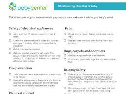 baby room checklist.  Checklist Childproofing Checklist For Your Baby Inside Baby Room Checklist