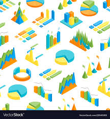 Charts And Graphs Seamless Pattern Background 3d