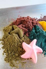 diy kinetic sand to make with the kids