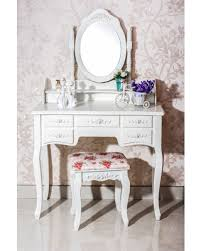 vanity table. 7-drawer vanity table with chair (7 drawer ivory table) cream