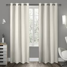 sateen twill weave insulated blackout window curtain panel pair
