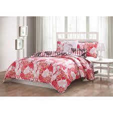 flamingo reversible 5 piece king quilt set