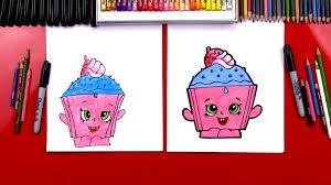 How To Draw Cupcake Chic Shopkins Art For Kids Hub